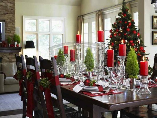 how to decorate the dining room for this years christmas