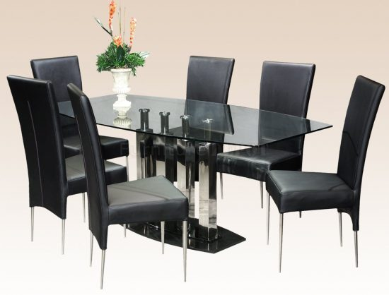 2017 Black Dining Room Table; Add charm and dramatic look to your space