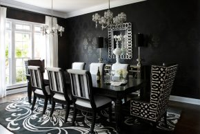 2018 Black Dining Room Table; Add charm and dramatic look to your space