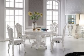 Add pure beauty and timeless comfort with 2018 white dining room furniture