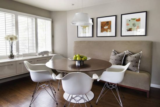 Get The Trendy Dining Room Look Of 2017 With A Sofa Inside