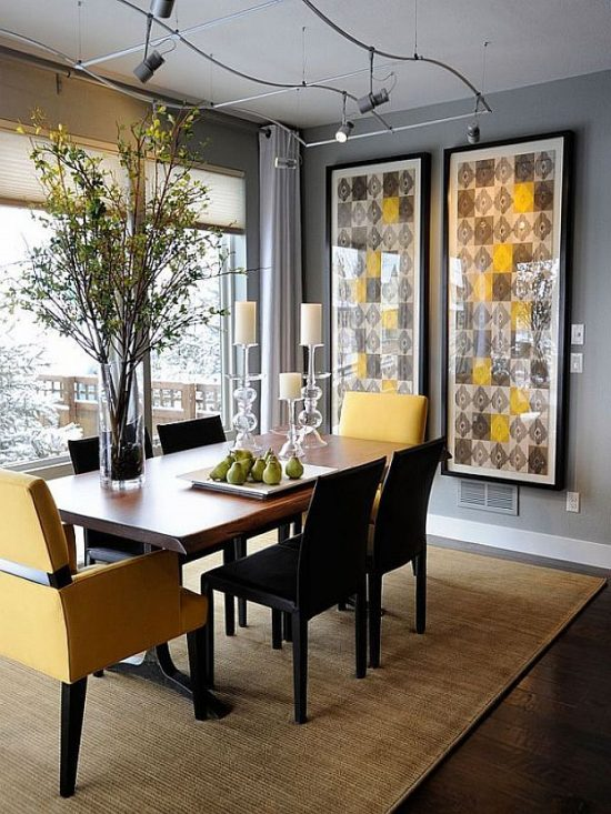 Get the trendy dining room look of 2017 with a dining sofa inside
