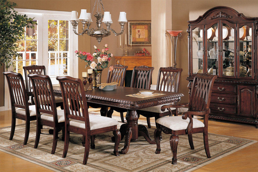 Mahogany dining room furniture; A timeless beauty with an imperial look - dining room furniture : mahogany dining table set - pezcame.com