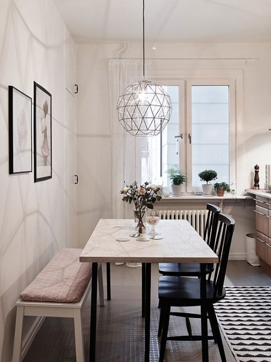 Rock Your Small Dining Space with the right table and bench design