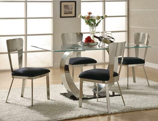 Add a striking dining look with 2017 contemporary dining room furniture