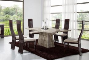 Add a striking dining look with 2018 contemporary dining room furniture