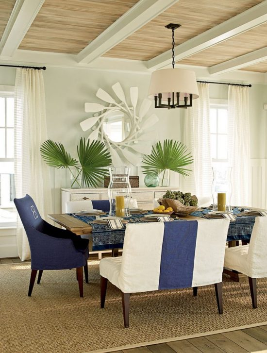 Coastal dining room theme décor for a maximum calmness and peace