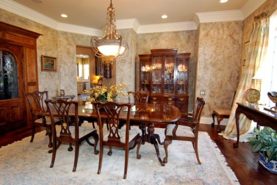 Country dining room furniture for warm, inviting and gathering space