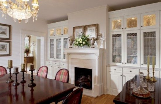 Dining room cabinets; a necessity for organized elegant dining room look