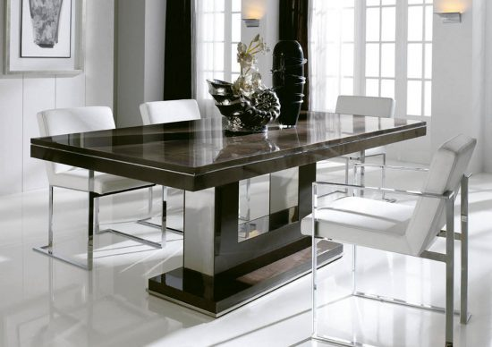 Get extraordinary fashionable look with 2017 marble dining tables