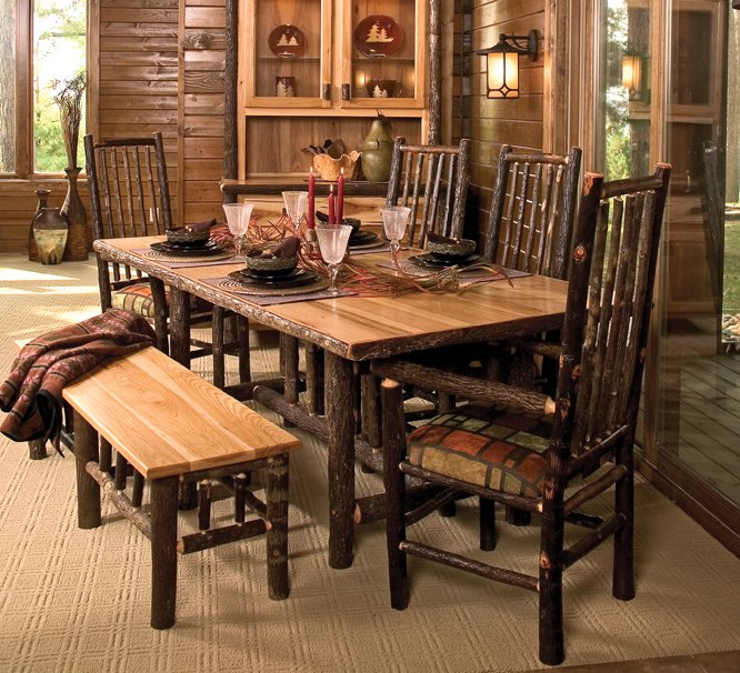 Rustic Dining Room Furniture Lends Your