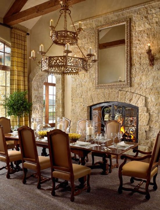 Charmant Tuscan Dining Room Décor For Warm, Elegant And Outstanding Look