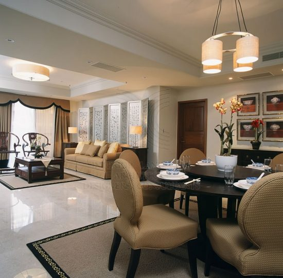L Shaped Dining Living Room