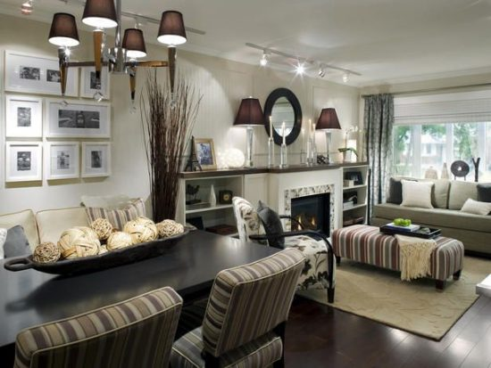 L-Shaped Dining & Living Room Decorating – Think Cleverly!
