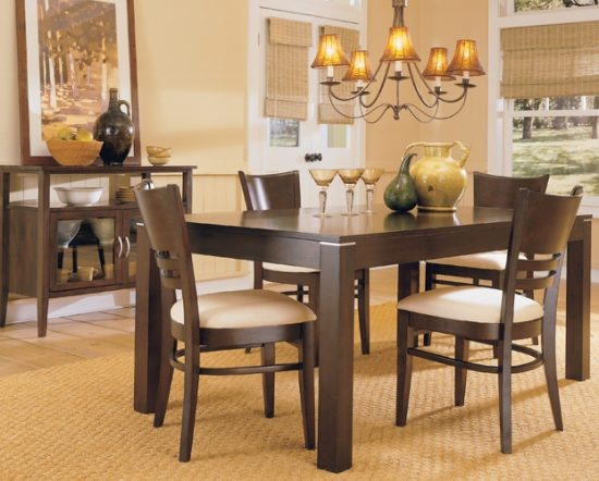 Small Spaces' Dining Room Table & Chairs – There is Always a Solution for Small Spaces!