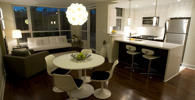Dining Table in Living Rooms – Brilliant Ideas for a Multifunctional Living Room